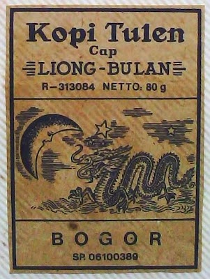 kopi tulen (pure coffee): LIONG BULAN (dragon & moon) from Bogor, West Java.