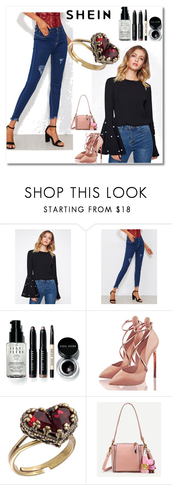 """""""Shein 10"""" by ajisa-ikanovic ❤ liked on Polyvore featuring Bobbi Brown Cosmetics and Michal Negrin"""