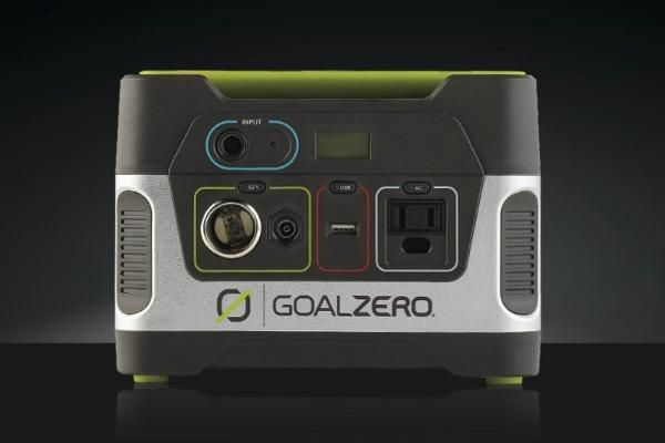 Goal Zero Yeti 150 generator.  This small, portable generator is perfect whether you need power during a camping trip or an emergency situation. This silent, gas-free generator will power lights, phones, laptops, and other electronic devices. The Yeti 150 can be powered from a wall outlet, 12V car adapter, or compatible solar panel (Boulder 15M or 30M). It powers devices from its USB ports, 12V ports, and AC port.