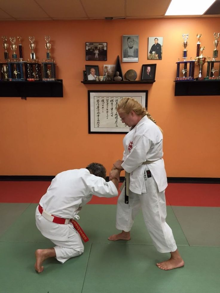 This month I am demonstrating self-defence against an across-line wrist grab, step 5.