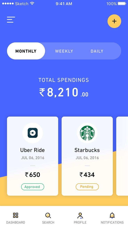 1 spending app home