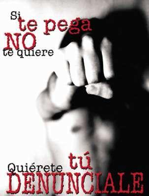 Si te pega no te quiere, si te maltrata, te aisla de tus amigos y te controla, aunque no haya golpes tampoco te quiere. Todo es violencia