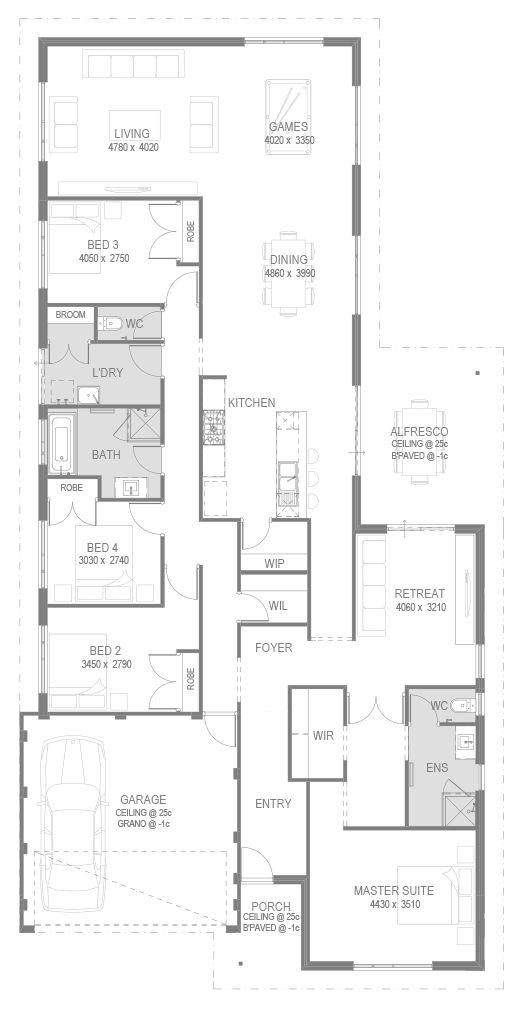 The Carlton Floorplan by GO Homes