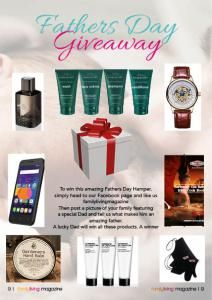 Family Living Magazine Mega Fatehrs day giveaway - ends 04 September