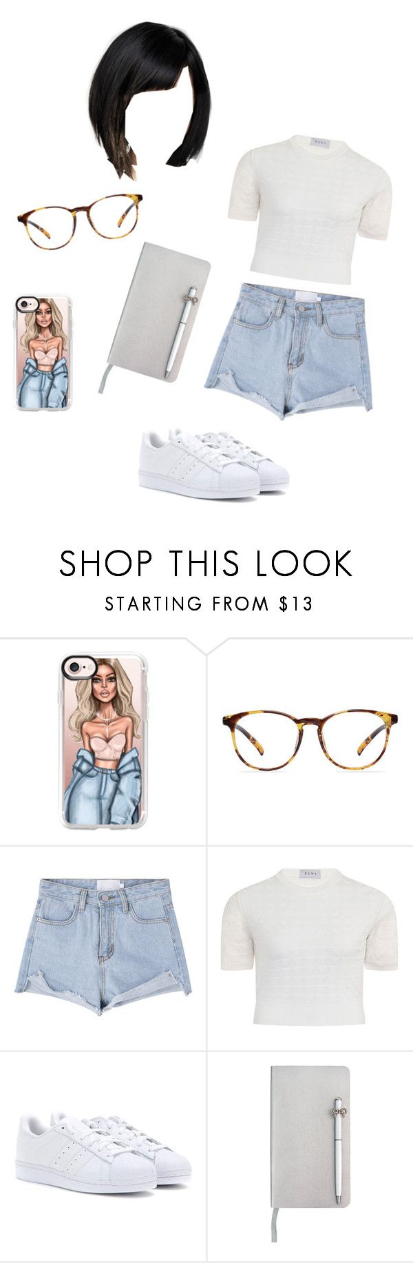 """Untitled #353"" by michelykamely ❤ liked on Polyvore featuring Casetify, Elvi, adidas and ICE London"