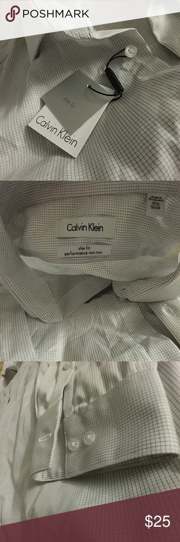 Calvin Klein Slim Fit dress shirt *Brand New *Slim Fit *16 1/2 32/33 size *NWT *Smoke free home Calvin Klein Shirts Dress Shirts