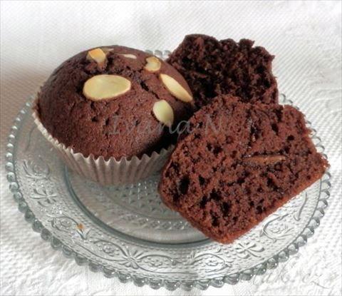 Picture of Recept - Kávovo - čokoládové muffiny