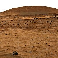 Spirit rover image of a feature known as Husband Hill