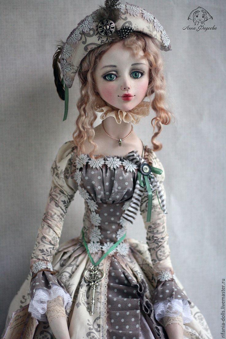 Купить Сабрина - бежевый, барышня, коллекционная кукла, оригинальный подарок, ручная работа, ла долл