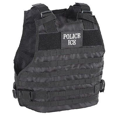 Other Tactical and Duty Gear 177902: Voodoo Tactical 20-9029013 Plate Carrier Vest Police Ice Logo - Size Md/Lg -> BUY IT NOW ONLY: $62.9 on eBay!