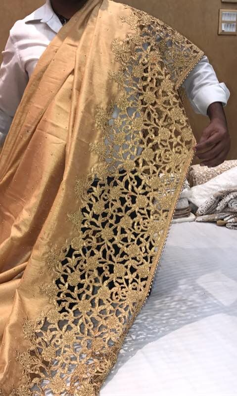 Raw silk love....  with cutwork border
