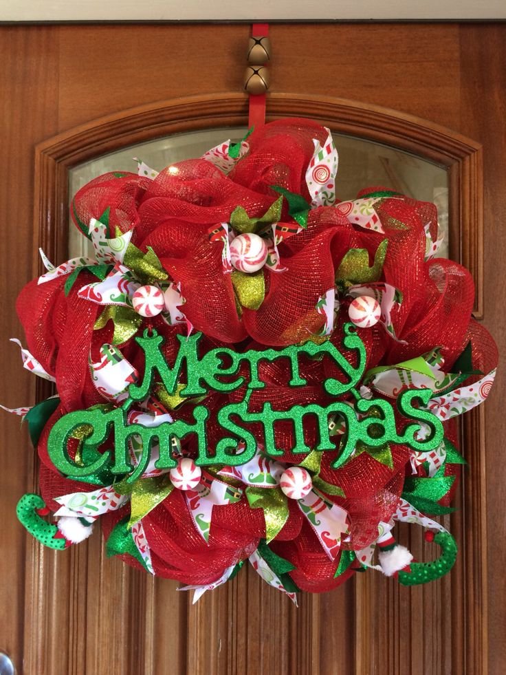 A personal favorite from my Etsy shop https://www.etsy.com/listing/491822091/merry-christmas-elf-and-candy-wreath-all
