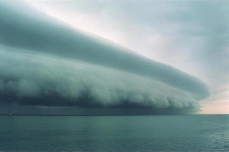 Amazing shot of Tropical Storm Issac taken with a cell phone. 08/26/2012