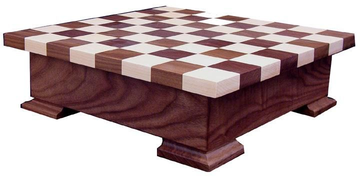 Amish Wood Checker and Chess Set with Storage