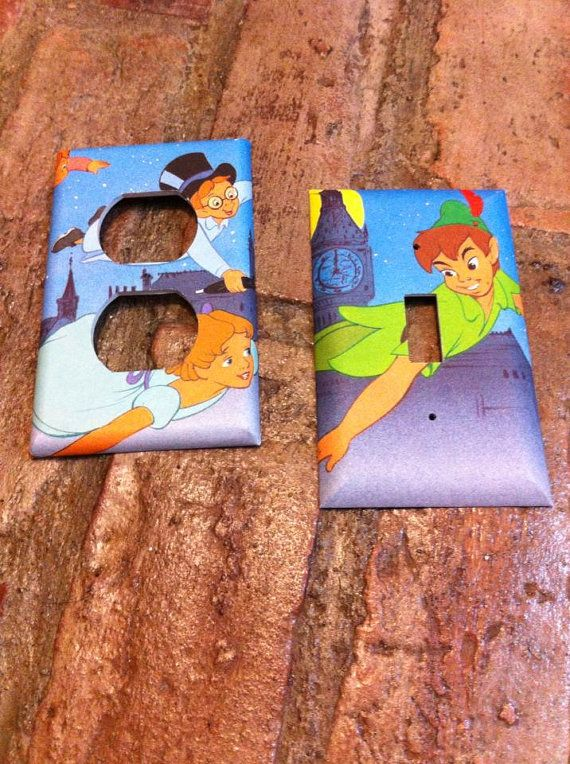 Peter Pan Light Switch and Electrical Cover by Hippiemysticstudio, $8.50