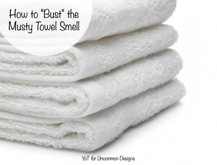 How to get rid of that musty towel smell, it's easier than you may think!