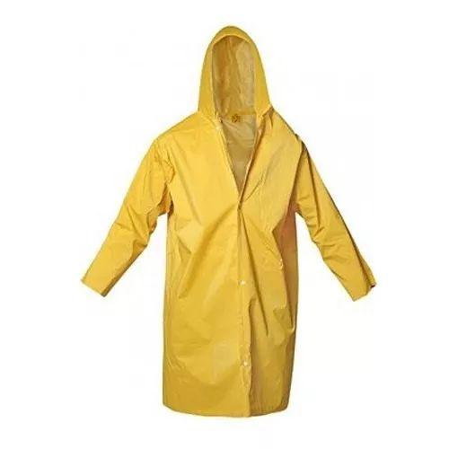 capa de chuva com capuz forrada amarela