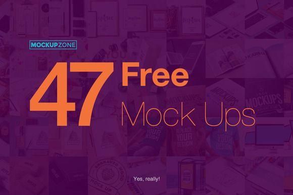 47 Free Mock Ups by Mockup Zone on Creative Market