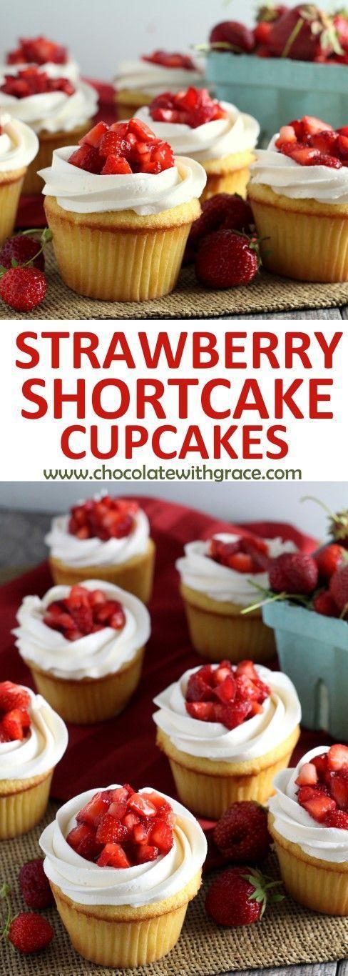 popular easy-to-make strawberry shortcake cupcakes