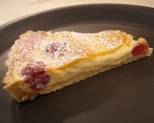 Cherry clafoutis tart recipe