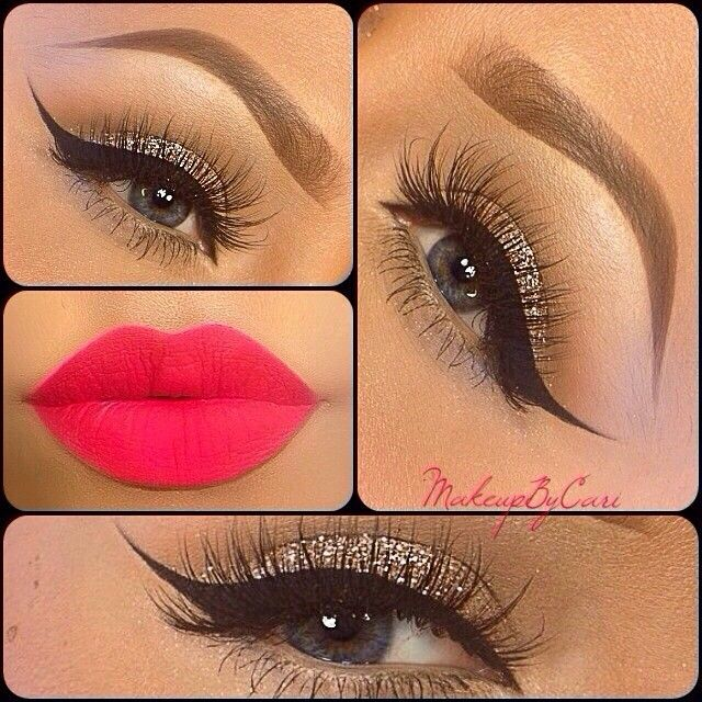 Don't necessarily like that shade of lipstick, but I like the eyes