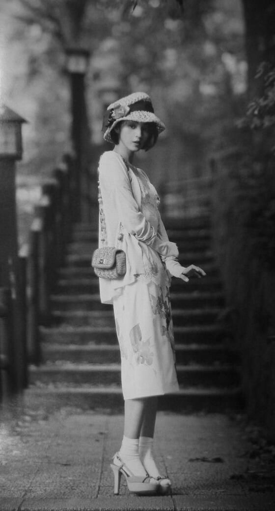 """.""""Mogas"""" (Modern gals), the Japanese flappers. Modern girls (モダンガール modan gaaru) were Japanese women who followed Westernized fashions and lifestyles in the 1920s. These moga were Japan's equivalent of America's flappers, India's kallege ladki, Germany's neue Frauen, France's garçonnes, or China's modeng xiaojie."""
