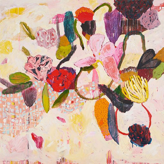 Featuring artwork by © Cate Maddy - Floral Situation | Anthea Polson Art Gallery Gold Coast QLD