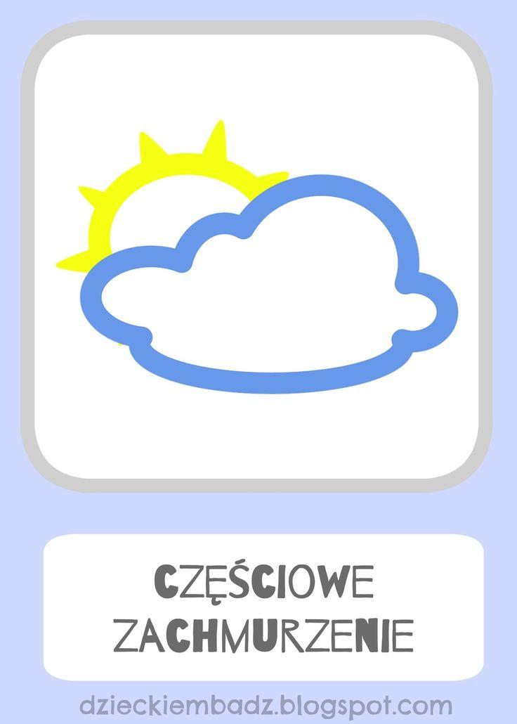 Kalendarz pogody dla dzieci.