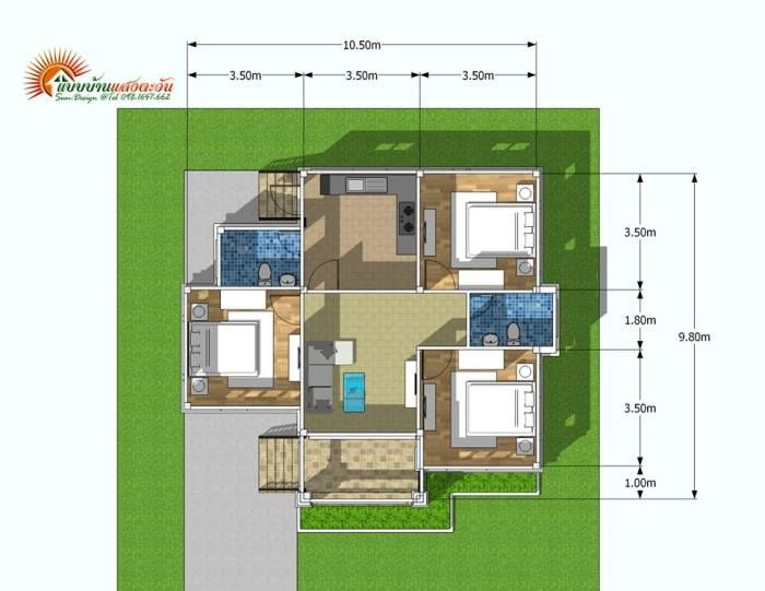 Three Bedroom Contemporary Bungalow For A Small Family Pinoy House Plans Bungalow House Design Bungalow House Plans House Design