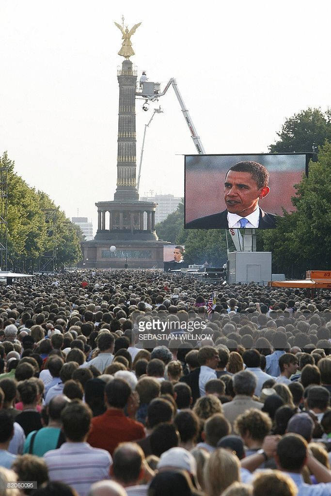 #44thPresident #BarackObama was treated like a #popstar in #Germany. It was the #summer of #2008 when the Democrat visited #Berlin He had yet to be elected #President . Over 200,000 #people gathered to watch the candidate speak at the Victory Column in the center of the German capital. German #Chancellor #AngelaMerkel hadn't allowed the presidential candidate to host his rally in Germany at the Brandenburg Gate - a popular, but rarely permitted spot to speak for foreign heads of state