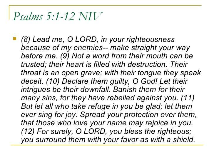 Psalms 5:8-12 | 070715 David A Morning Prayer Psalm 5 Dale Wells