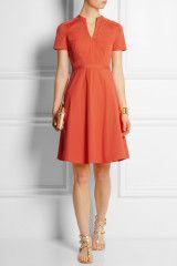 Tory Burch Brooke Stretchcotton Poplin Dress in Orange - Lyst