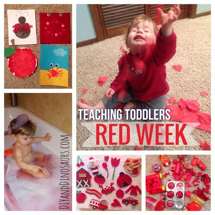Teaching Toddlers: Red Week (for Kiddos 15+ Months) diyanddinosaurs.com