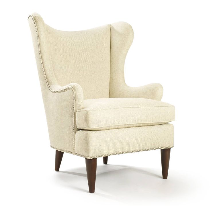 Beautifully Blending Modern And Classic Appeal, This Wood Framed Arm Chair  Showcases A Wingback Silhouette And Nailhead Trim. Design Inspirations