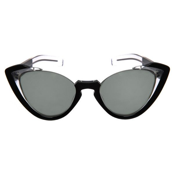 Grey Ant - Sail Sunglasses - Sunglasses ($300) via Polyvore featuring accessories, eyewear, sunglasses, sunglass, grey ant glasses, transparent sunglasses, grey ant sunglasses, see through glasses and grey ant