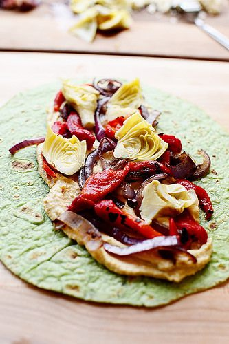 Hummus Wrap by Ree Drummond / Omit feta or use a vegan alt