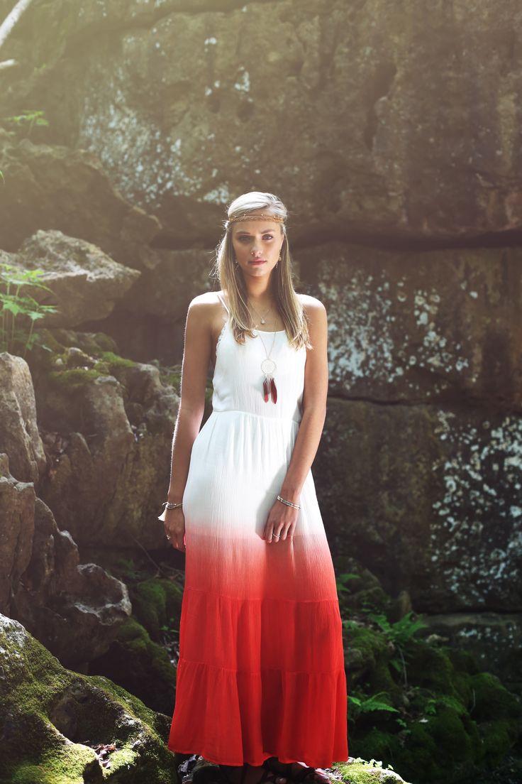 Altar'd State Dip Dye Maxi Dress