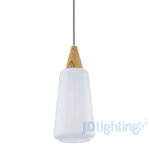 Eglo Pentone White Opal Glass U0026 Oak Wood Pendant Light The Pentone Series  By Eglo Lighting Is A Modern Pendant Range With A Unique And Simplistic  Design.