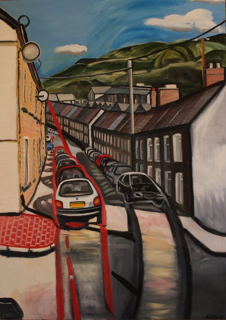 Street in the Welsh Valleys, 2011, Linda Wallis