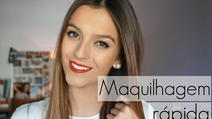 Maquilhagem fácil e rápida: Eyeliner + Batom vermelho | Ana Cunha
