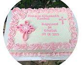 BAPTISM CAKE TOPPER Cross Christening Boy or girl Fondant cake topper Baptism cake topper Edible cake topper Gum paste Cake topper