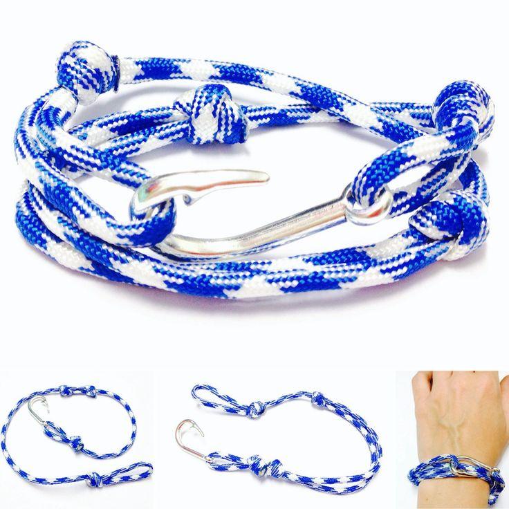 Hook Wrap Bracelet - Paracord Hook Bracelet - Paracord Wrap Bracelet - Fish Hook - Wrap Bracelet - Paracord Bracelet - Fish Hook Pendant by OurUniverseShop on Etsy