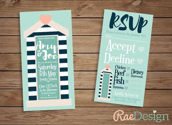 Printable Nautical Seaside Beach Wedding by RaeDesignStationery