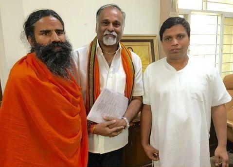 #yoga guru Baba Ramdev ji  Met Col Ashok Kini,was #comptroller and #spiritual advisor to Late shri APJ Abdul Kalam ji.