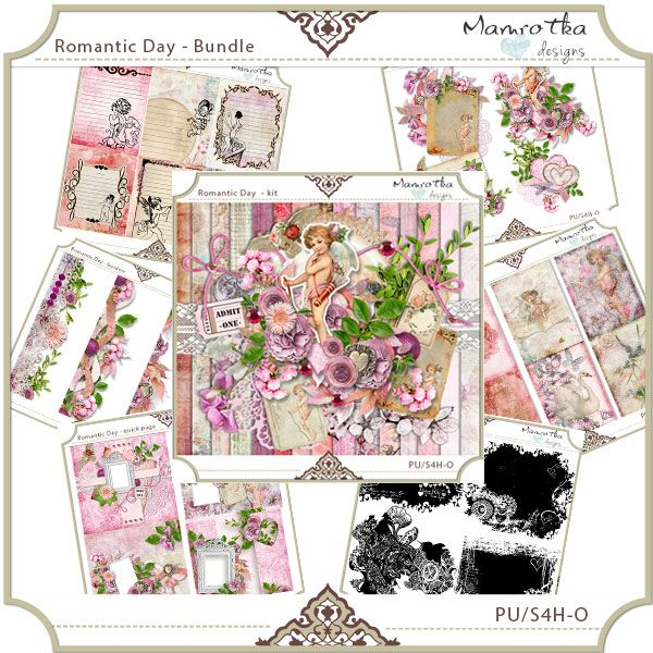 Romantic Day bundle by Mamrotka designs - $18.00 : ScrapBird!, source for digital scrapbooking