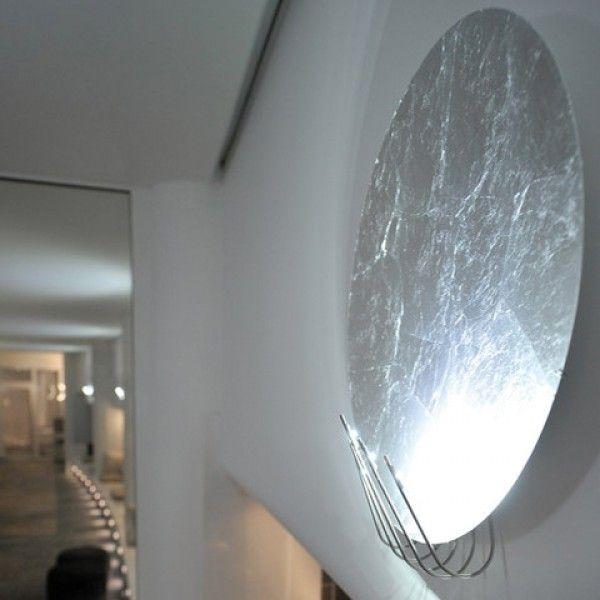 Full Moon 50 LED Wandleuchte mit Blattsilber von Catellani & Smith