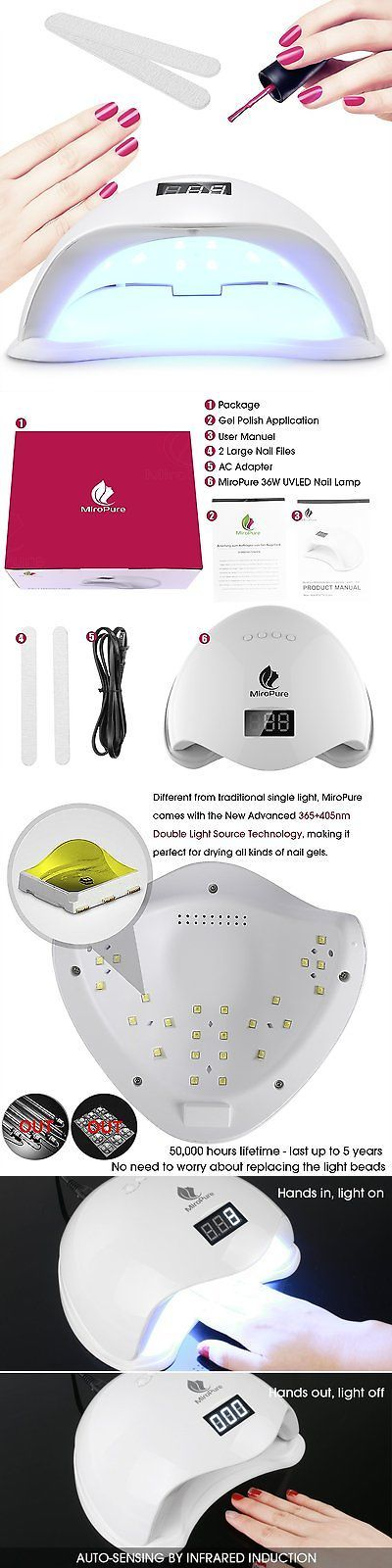 Nail Dryers and UV LED Lamps: 36W Uv Led Nail Lamp Manicure/Pedicure Nail Dryer With 4 Timer Setting - Perfect BUY IT NOW ONLY: $59.51
