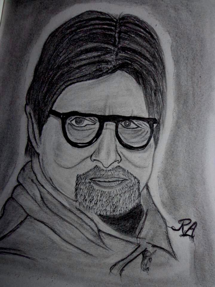 amitabh bachchan my pencil sketch @drawing @artist ...