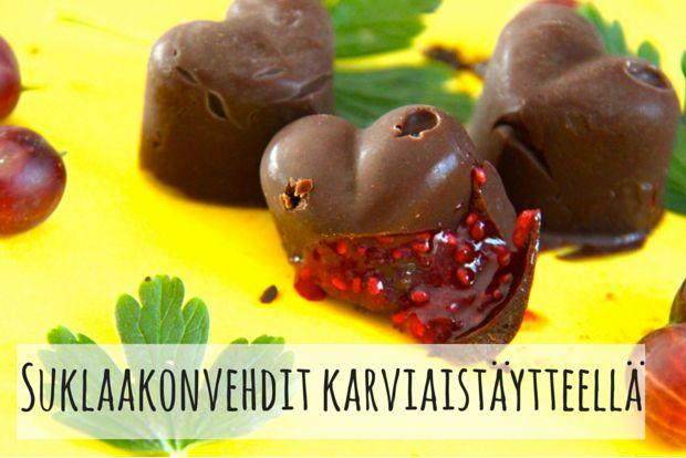 Suklaakonvedit karviaistäytteellä(1)