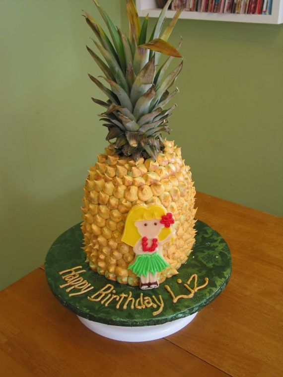 Pineapple cake...one day I will make this soooo better & without the girl on the front! :)
